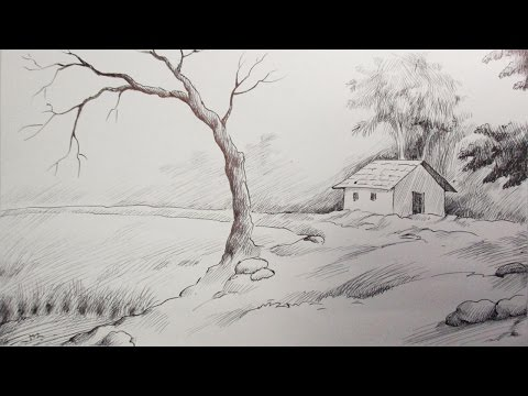 Pen & Ink Drawing Tutorial | How to Draw A Scenery