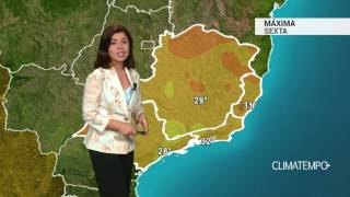 Previsão Sudeste – SP com pancadas de chuva