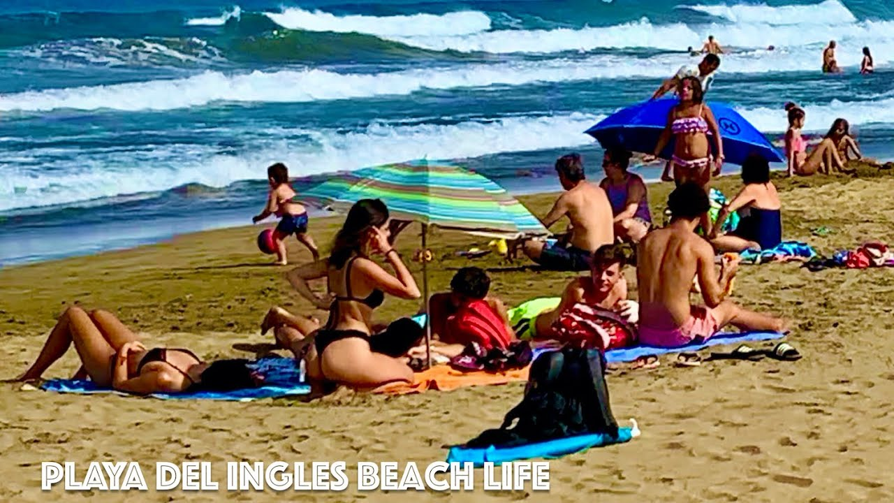 Gran Canaria Playa del Ingles Beach Life 09.07.2020 🏖