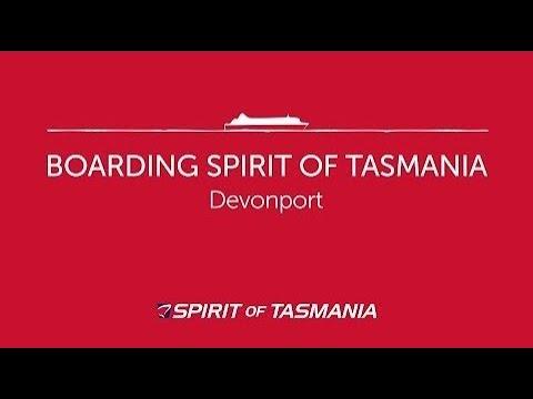 Boarding Spirit Of Tasmania In Devonport
