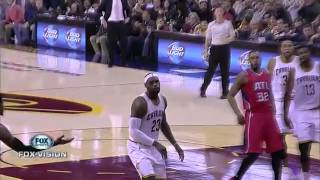 lebron james blocks kent bazemore shot hawks vs cavaliers nov 14 2014 2014 15 season