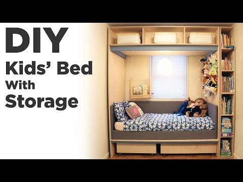DIY Kids Bed with Storage | KIDS ROOM ORGANIZATION AND  RENOVATION