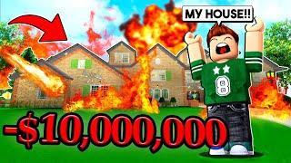 THEY DESTROYED MY $10,000,000 MANSION! (Destruction Simulator)