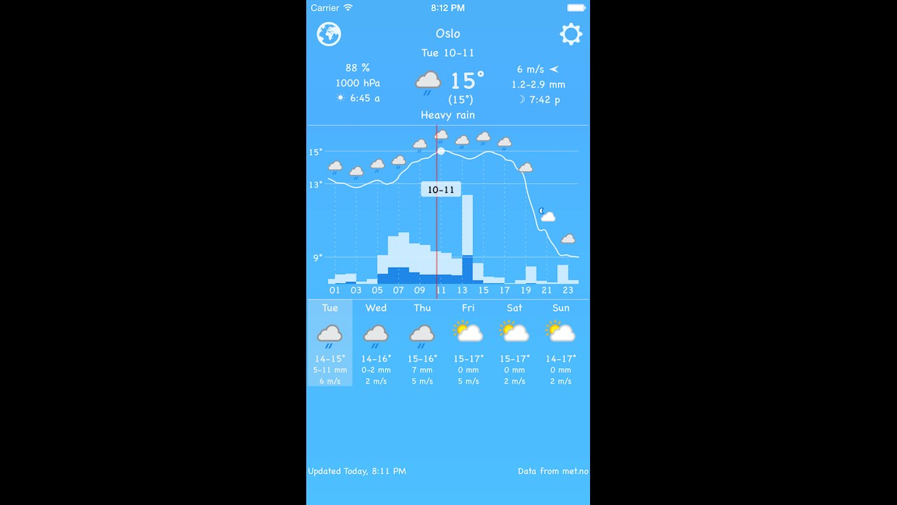 widget weather 2.0 App Store preview for iPhone 6