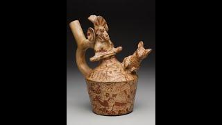 Break for Art | Moche Stirrup-Spout Bottle with Deer Hunt | #DMAatHome