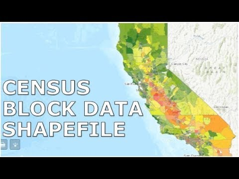 Download US Census block data and shapefile and join in GIS
