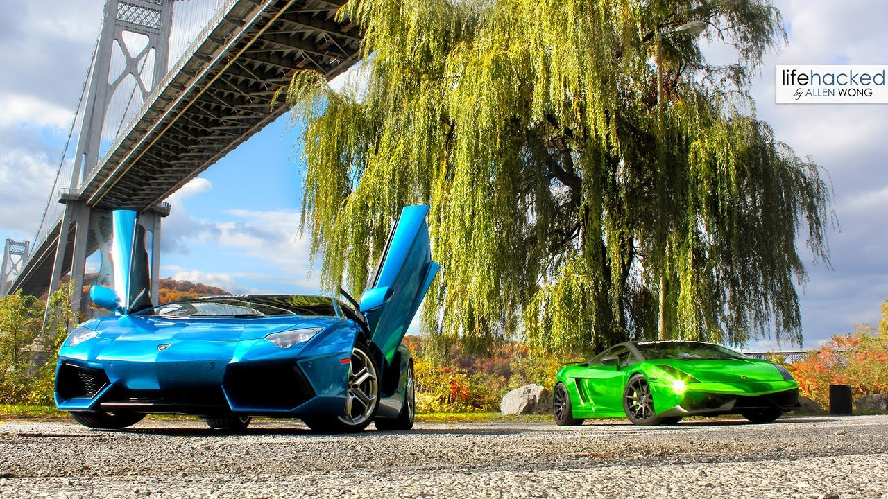 Lamborghini Aventador Vs Chrome Green Gallardo Loud