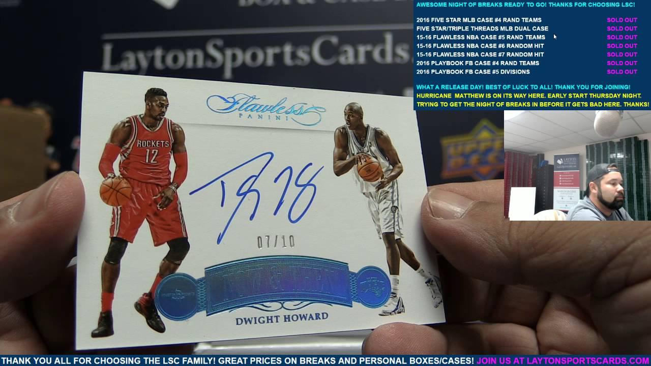 574e529408d 2015-16 Panini Flawless Basketball 2 Box Case Break for Doris H ...