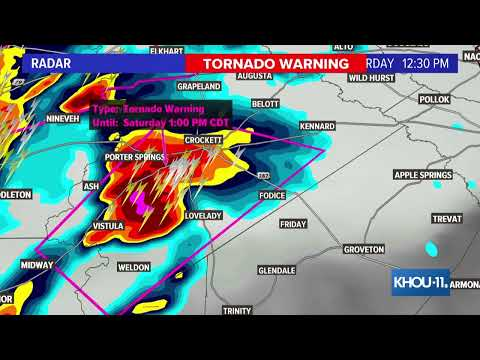 Meteorologist Blake Mathews Gives Update On Severe Weather In Texas, Louisiana