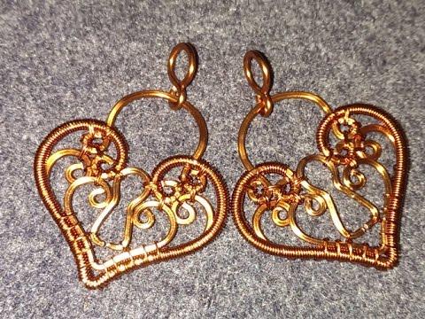 Locks copper wire pendants - Handmade Jewelry Ideas 68