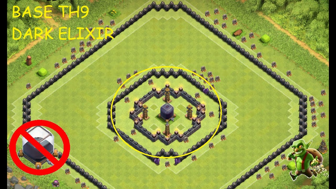 authorized site in stock reliable quality Clash of clans - town hall 9 (th9) - Best protect dark elixir + Replay.  Saving/Farming base 2016