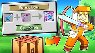 Download minecraft manhunt but you can COMBINE ANY WEAPON
