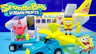 SpongeBob & Patrick Star SquarePants Airplane Playset From Nickelodeon Toys Juguetes de Bob Esponja
