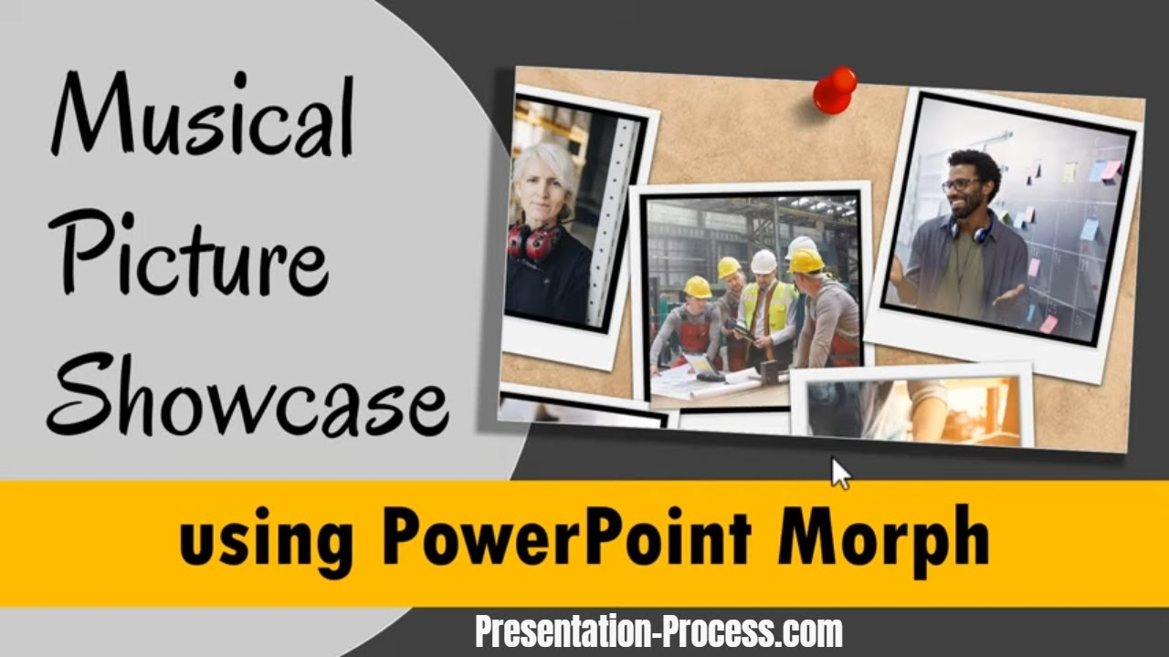 Musical Picture Showcase using PowerPoint Morph