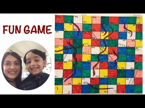 HOW TO MAKE SNAKES AND LADDERS| SNAKES & LADDERS DIY FUN GAME