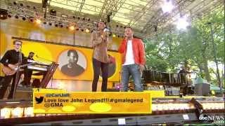John Legend Jokes Fiance Now Forbids 'Cheatin' Songs' - Interview 2013
