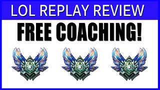 FREE LESSONS on STREAM #LOLREPLAYREVIEW