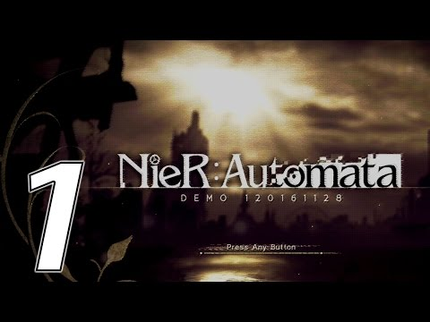 NieR: Automata Let's Play | Part 1 | Prologue | Abandoned Factory