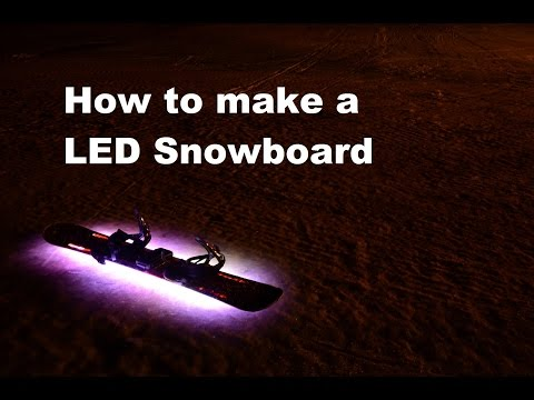 Tutorial: How to make a DIY RGB LED Snowboard with Arduino, Powerbank and WS2812B leds