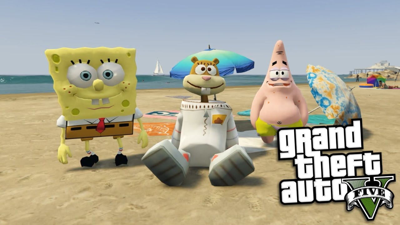 Gta  Mods Spongebobs Sandy Mod W Spongebob Patrick Sandy Gta  Mods Gameplay
