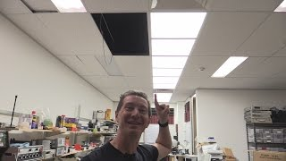EEVblog 764 - New Lab Ceiling LED Lighting Installation