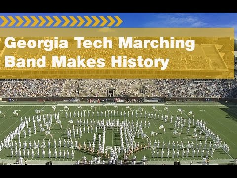 Georgia Tech's Largest Marching Band in History