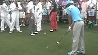 Rickie Fowler, Bubba Watson, Webb Simpson - Eighth Tee 2012 Masters Practice Tuesday
