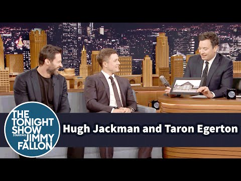 Hugh Jackman And Jimmy Try Ouncing Taron Egertons Hometown