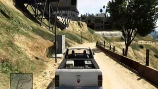 GTA V Gun store, towing cars 0001
