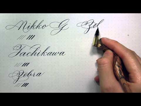 Calligraphy Nib Reviews: G Nibs