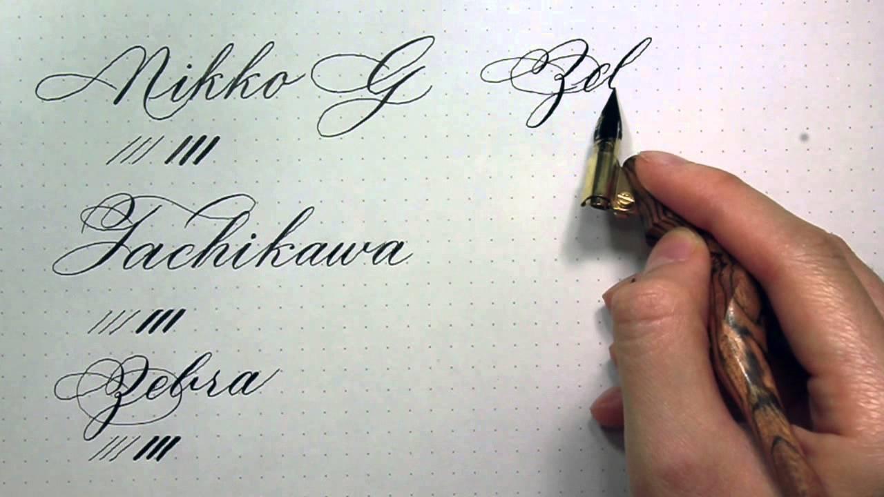 Calligraphy Nib Reviews G Nibs
