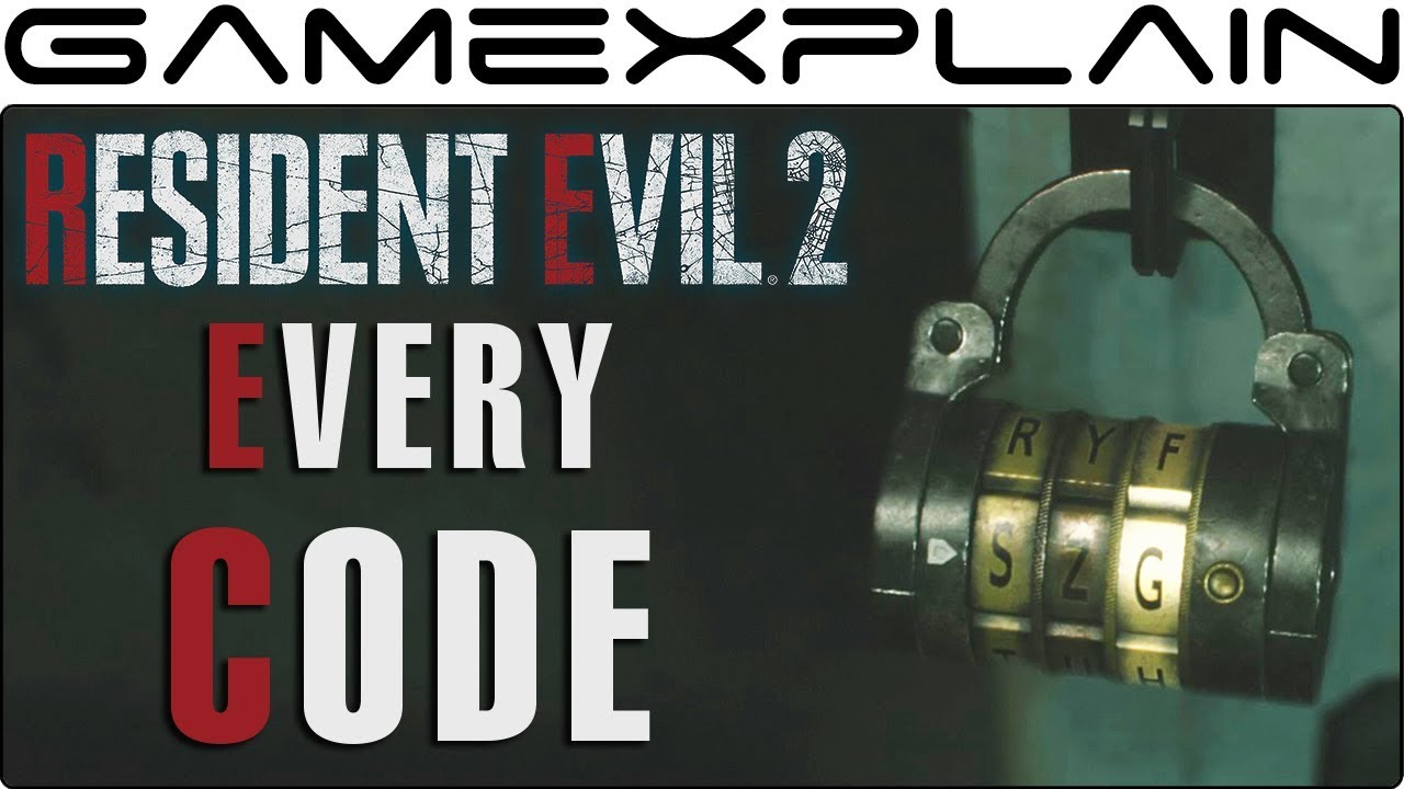 Resident Evil 2 Remake How To Unlock Every Safe Lock Guide Youtube