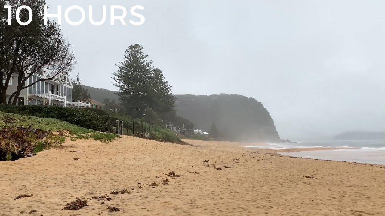 Stormy Beach & Ocean Sounds | Sea Waves Crashing & Relaxing Rain Sounds for Sleep, Insomnia & Stress