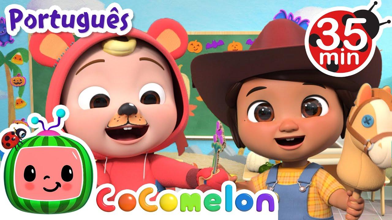 CoComelon em Português | Dia das Bruxas | Compilação de Desenhos Animados | Músicas Infantis