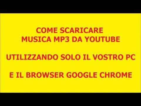 Come scaricare musica mp3 da Youtube con Google Chrome