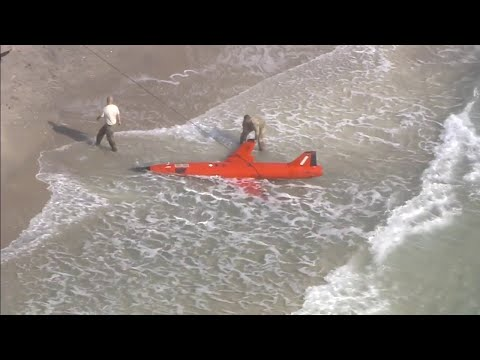 Military drone washes ashore Boynton Beach