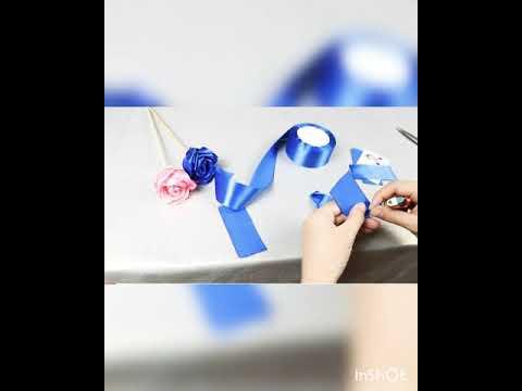 Мастер класс розы из атласных лент. Как сделать букет своими руками.