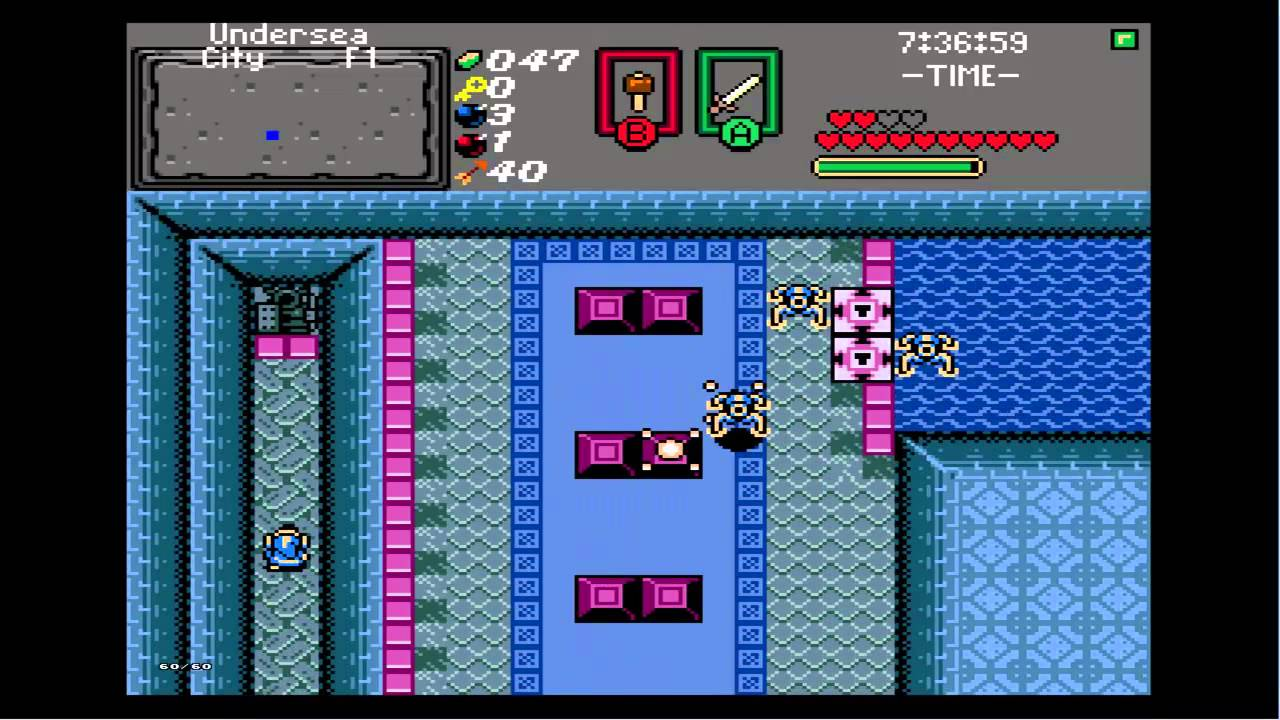 The Legend of Zelda: Isle of Rebirth 11-1: Undersea City (Level 6)