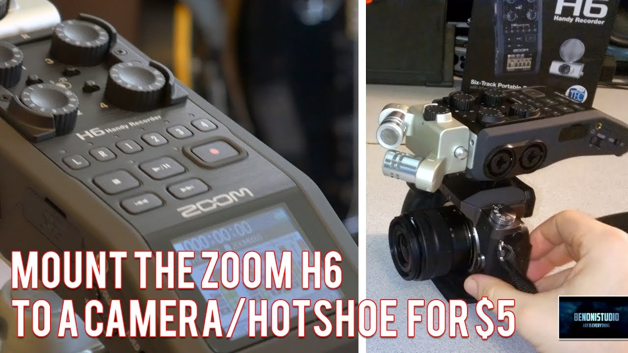 ZOOM H6 | MOUNT TO CAMERA/HOTSHOE FOR $5!