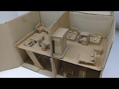 Cara Membuat Miniatur Rumah Mewah Dari Kardus [ Keren ...