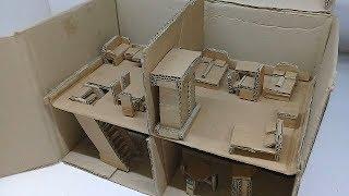 Cara Membuat Miniatur Rumah Mewah Dari Kardus [ Keren  banget ]