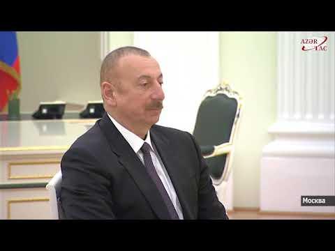 Проходит встреча между Президентом России, Президентом Азербайджана и премьер-министром Армении