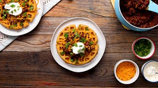 Cornbread Waffles And Chili Bar • Tasty