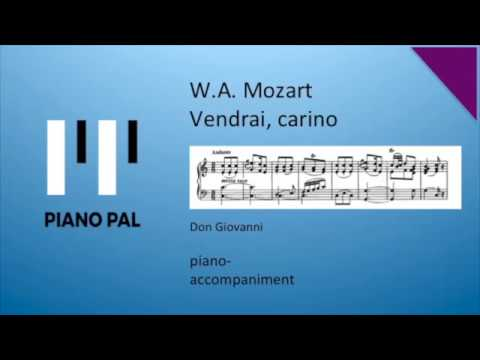 Vendrai carino Mozart from Don Giovanni Karaoke with voice