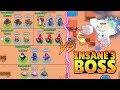 TRIPLE SAME BRAWLER VS INSANE 3 BOSS :: Trolling Boss   Brawl Stars Funny Gameplay