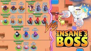 TRIPLE SAME BRAWLER VS INSANE 3 BOSS :: Trolling Boss | Brawl Stars Funny Gameplay