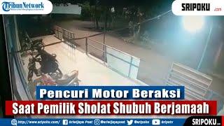 Curanmor Di Palembang, Pencuri Beraksi Saat Pemiliknya Sholat Subuh Di Gandus, Terekam CCTV & Viral