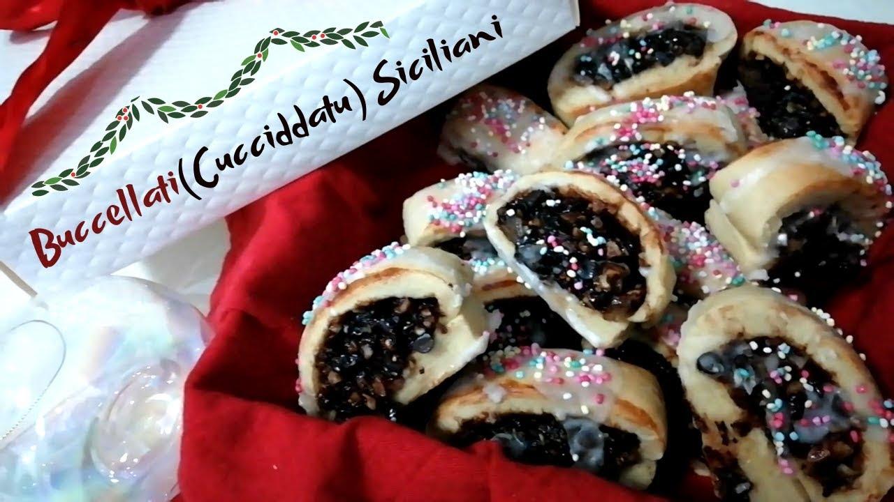 Dolci Siciliani Di Natale.Buccellati Cucciddati Siciliani Ricetta Biscotti Di Natale Con Fichi E Frutta Secca Youtube