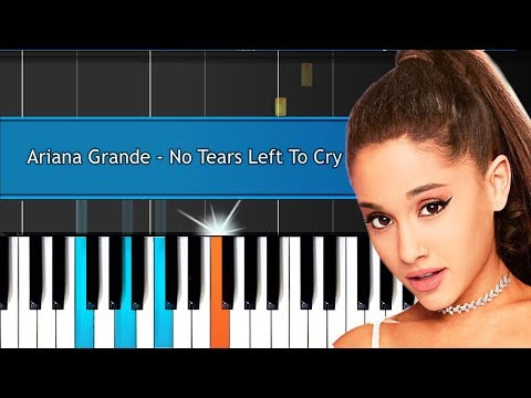 "Ariana Grande - ""No Tears Left To Cry"" Piano Tutorial - Chords - How To Play - Cover"