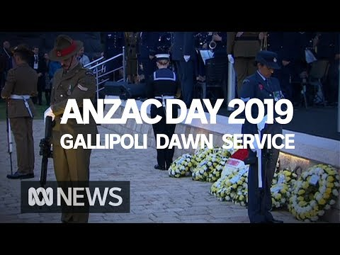 Anzac Day Dawn Service From Anzac Cove In Gallipoli | ABC News